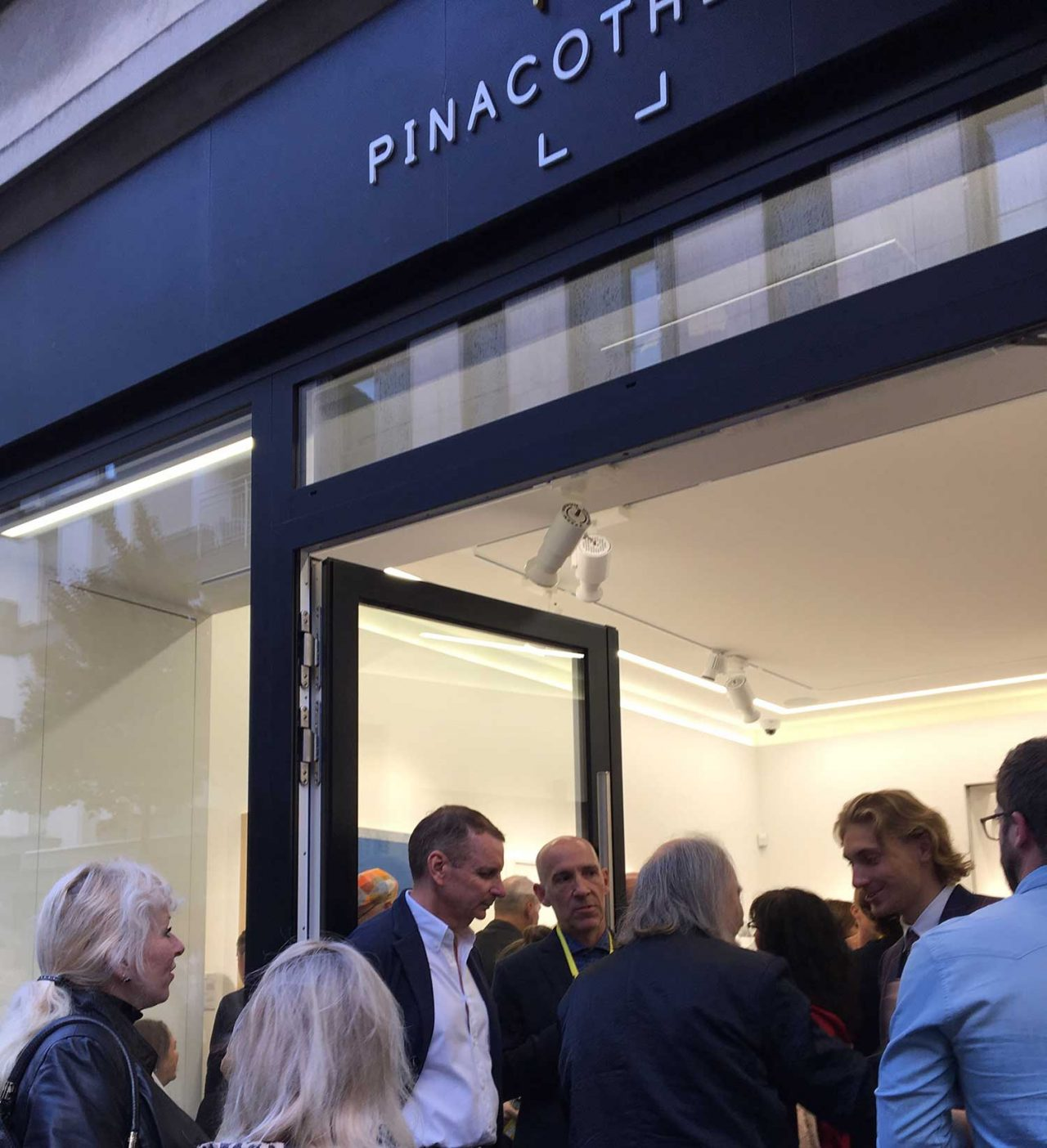 The exhibition opening at La Pinacotheque was packed