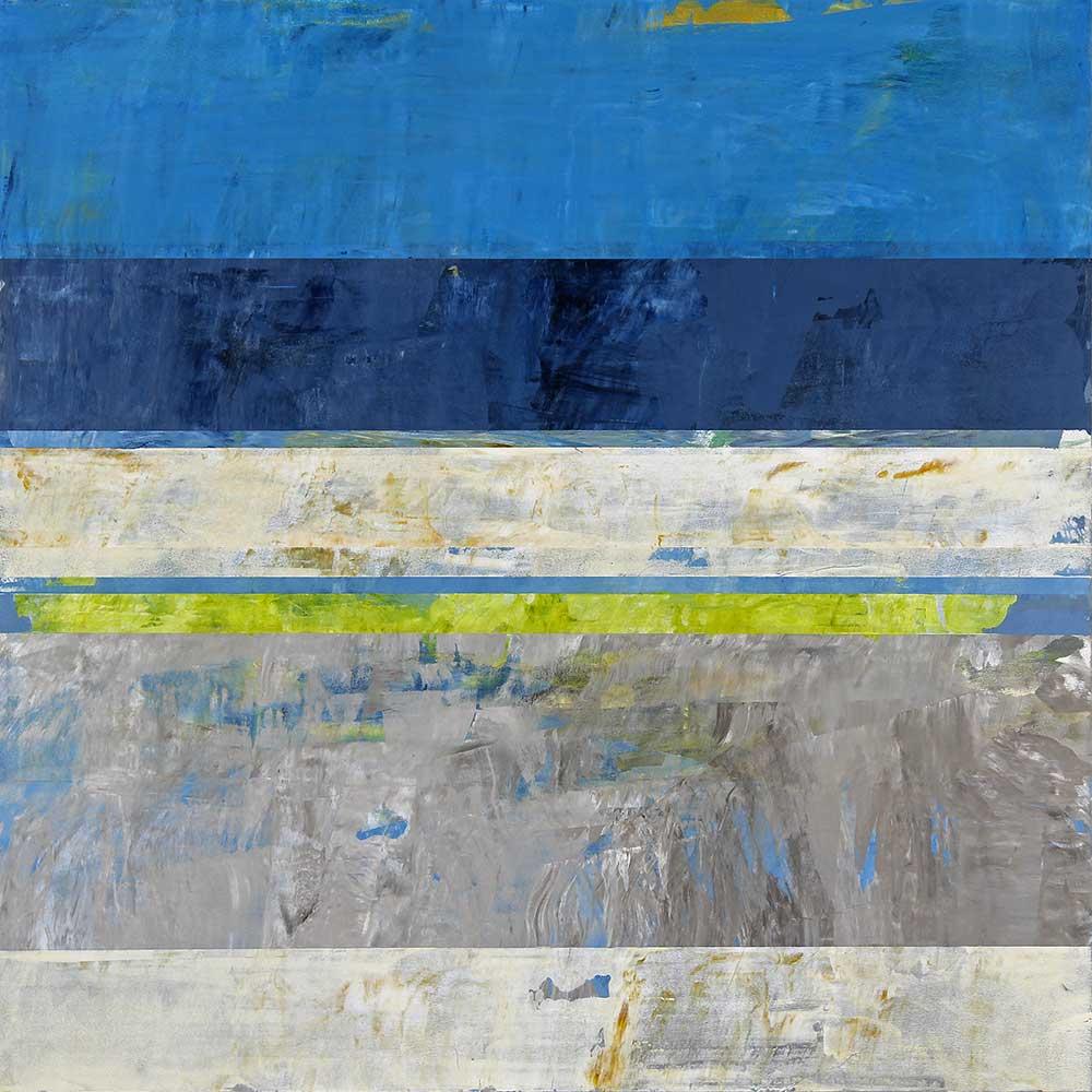 "Down South, 2021, acrylic on aluminum panel, 36"" x 36"" by Clay Johnson"
